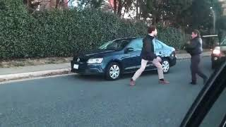 Uber Driver Fights Guy Who Cut Him Off