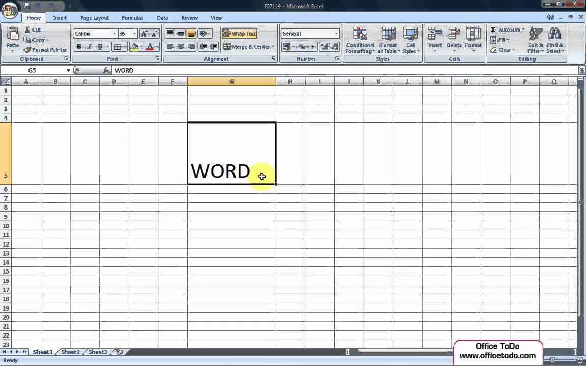 how to move to next line in excel