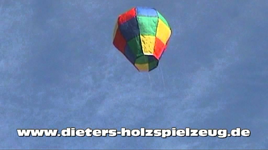 Heissluftballon Bausatz - YouTube