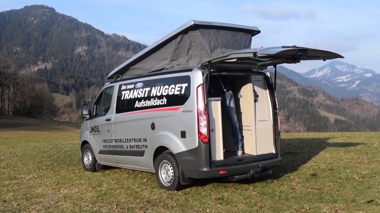 mainwelle mobil der ford nugget im test youtube. Black Bedroom Furniture Sets. Home Design Ideas