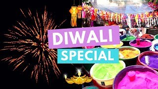 Making Rangoli, Watching Fireworks & Unboxing Gifts! Diwali Special | #DhwanisDiary