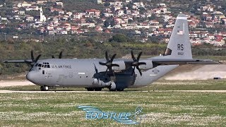 USAF Lockheed C-130J Hercules AMAZING! Close-up Takeoff!