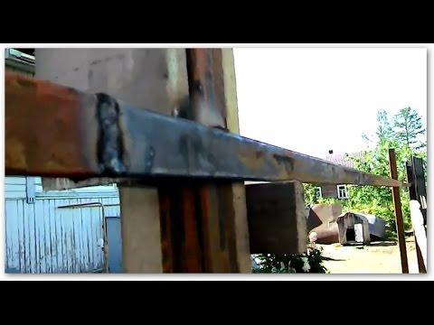 Как приваривать направляющие на заборные столбы