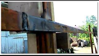 Как приваривать направляющие на заборные столбы(В видео показано простое приспособление для того, чтобы самому, в одни руки, без чьей либо помощи привариват..., 2014-07-06T17:33:32.000Z)