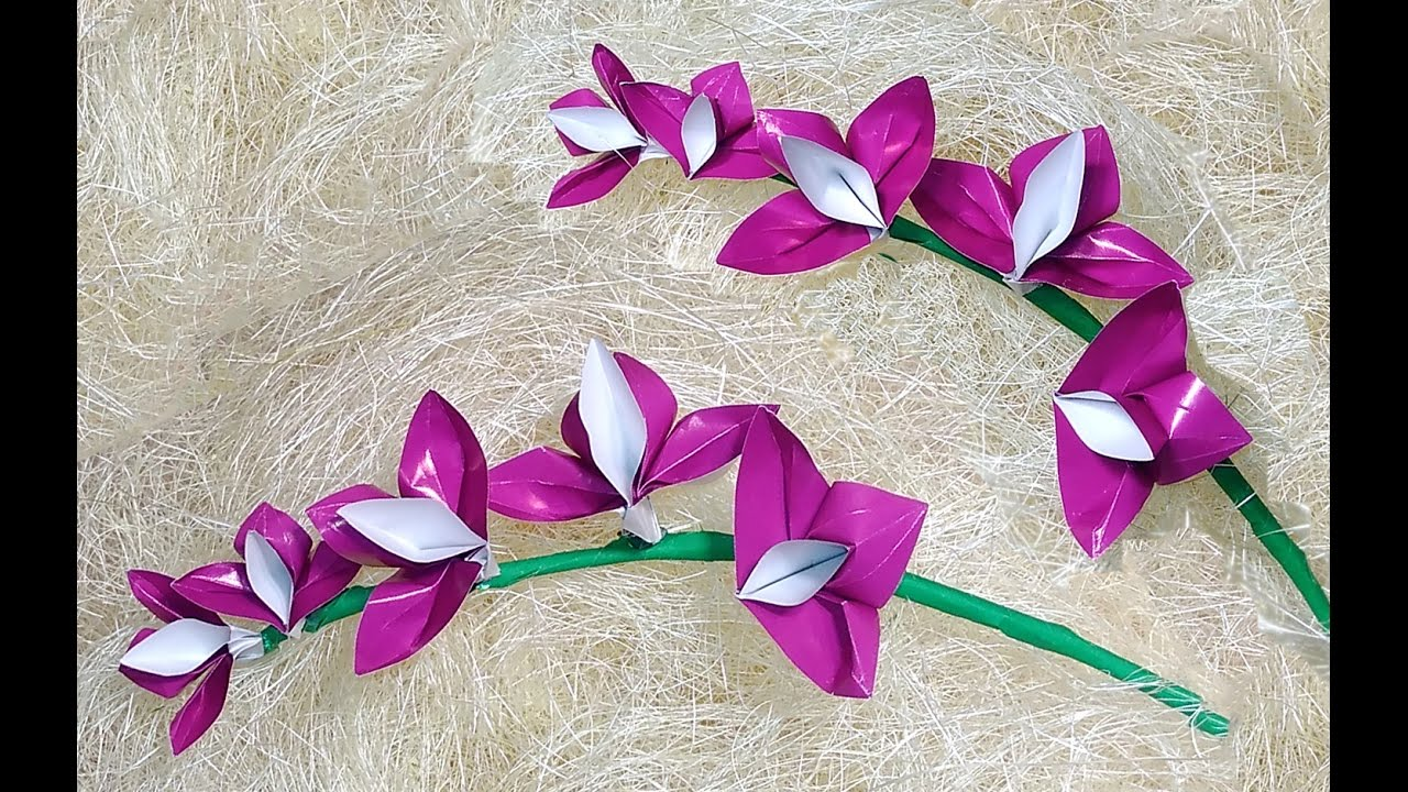 Easy Origami Orchid Christmas Decoration Youtube