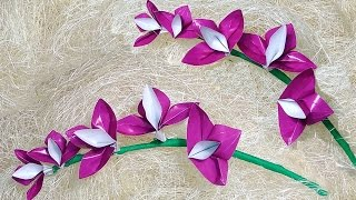 Easy Origami orchid ! DIY Easter decorations from paper.