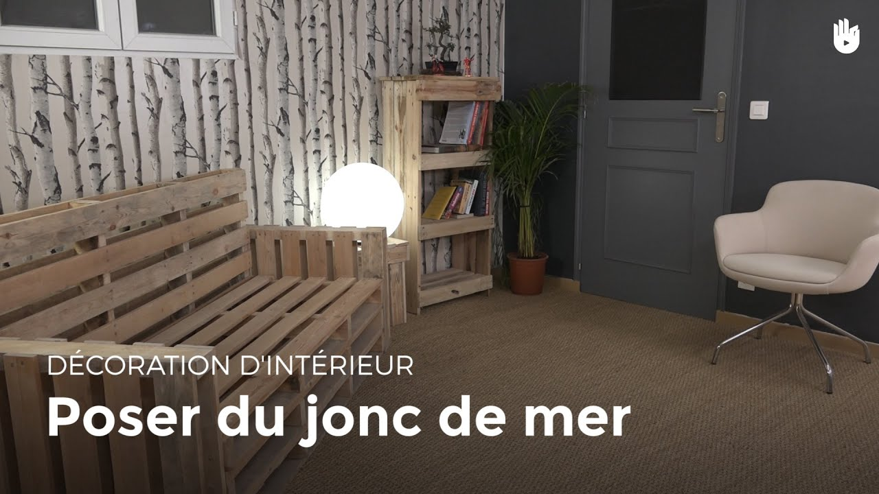 poser du jonc de mer bricolage youtube. Black Bedroom Furniture Sets. Home Design Ideas