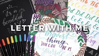 LETTER WITH ME! Calligraphy with Crayola Markers!