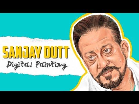 Sanjay Dutt Digital Painting Timelapse | Sanju 2018