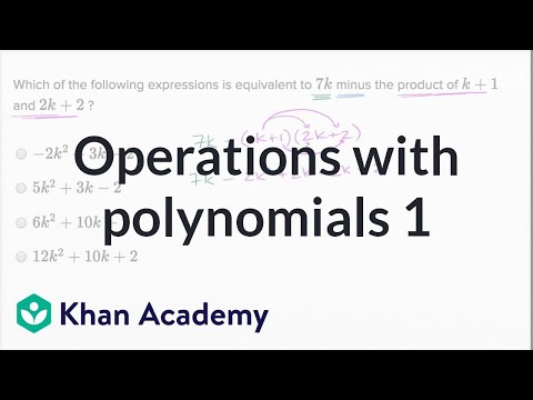 Operations With Polynomials — Basic Example | Math | New SAT | Khan Academy