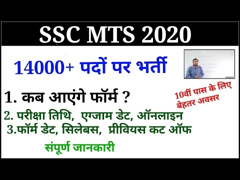 SSC MTS 2020/SSC MTS NEW VACANCY 16000+ Post