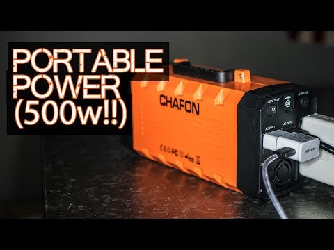 Portable Power (500 Watt BEAST) – Chafon 346wH Solar Generator / Battery Backup / UPS