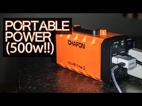Portable Power (500 Watt BEAST) – Chafon 346wH Solar Generator / Battery Backup / UPS