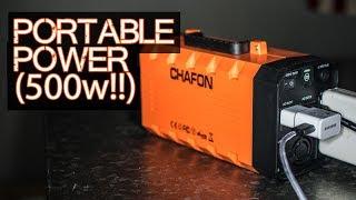 Portable Power (500 Watt BEAST) - Chafon 346wH Solar Generator / Battery Backup / UPS