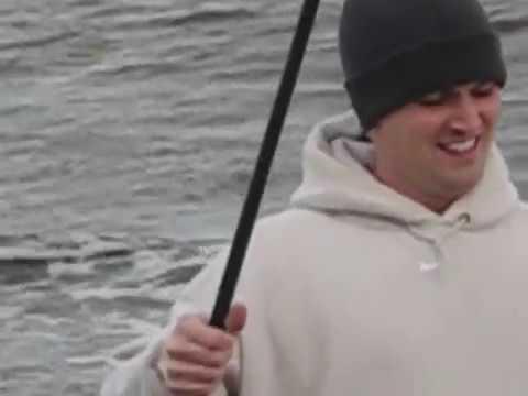 Striped bass perth amboy nj youtube for Surf fishing nj license