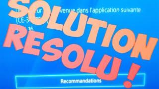 SOLUTION ERREUR CE-34878-0