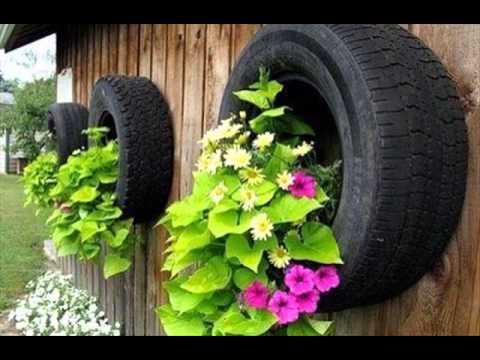 Gartenideen Mit Alten Autoreifen - Youtube