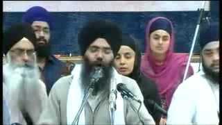 Bhai Manpreet Singh ji kanpuri Manchester Akhand Kirtan Smagam 2013 Friday Morning 13/12/13