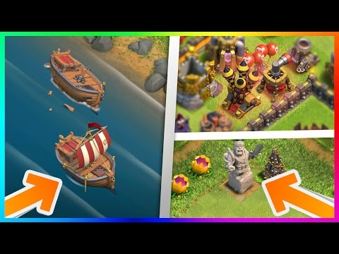OMG! NEW UPDATE LEAKED?! REPAIRABLE SHIPWRECK, KING STATUE, NEW DEFENSE LEVELS! CLASH OF CLANS LEAK!