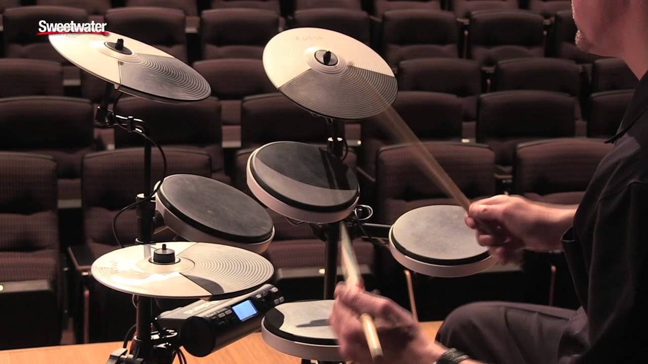 roland td 4kp portable v drums demo sweetwater sound youtube. Black Bedroom Furniture Sets. Home Design Ideas