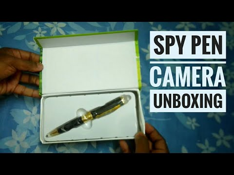 Pen Spy Camera Unboxing - Business Portable Recorder 6 - Bpr 6 720p resolution