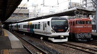 2019/03/06 高島貨物線 根岸線 試運転 E257系 M-104編成 大宮駅 | JR East: Training of E257 Series M-104 Set at Omiya