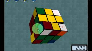 how to solve a cube 3x3x3 only with one algorithm without additional moves