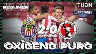 Resumen y goles   Chivas 2-0 Tijuana   Torneo Guard1anes 2021 BBVA MX J15   TUDN