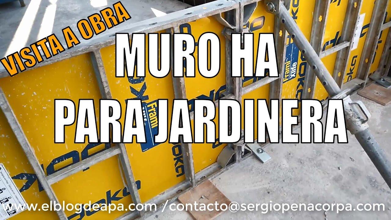 Visita a obra muro hormig n armado para jardinera youtube - Jardinera hormigon ...