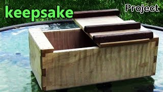 Project #5: Keepsake Box W/ A Lid Design Borrowed From A Japanese Traditional Woodworking Toolbox