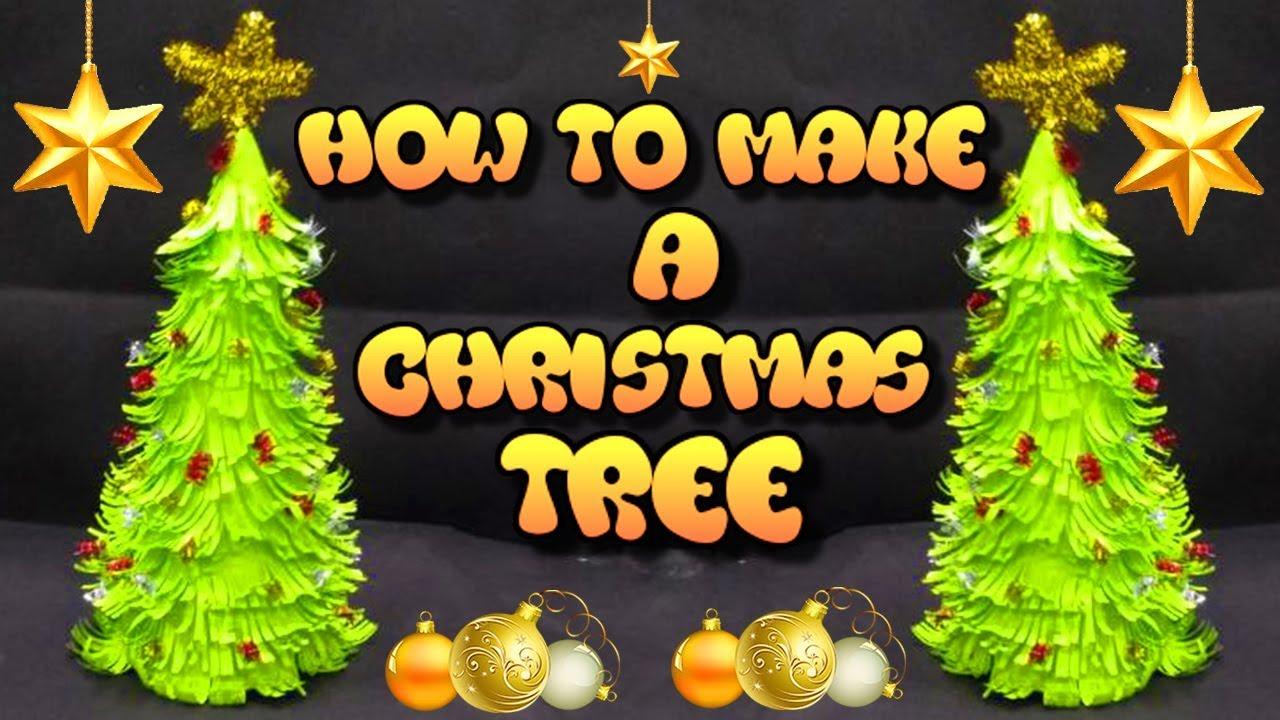 Christmas Tree Decoration Craft Ideas Part - 45: How To Make A Christmas Tree | Christmas Tree Decoration Craft For Kids |  Festival Decoration Ideas