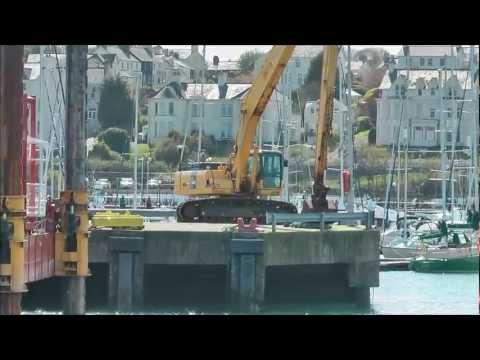 Big Komatsu 340 dredger excavator