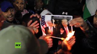 Palestinos protestan contra el 'acuerdo del siglo'