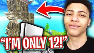12 YEAR OLD TEACHES HOW TO BUILD FASTER THAN MYTH! (BEST FORTNITE CONSOLE BUILDER)
