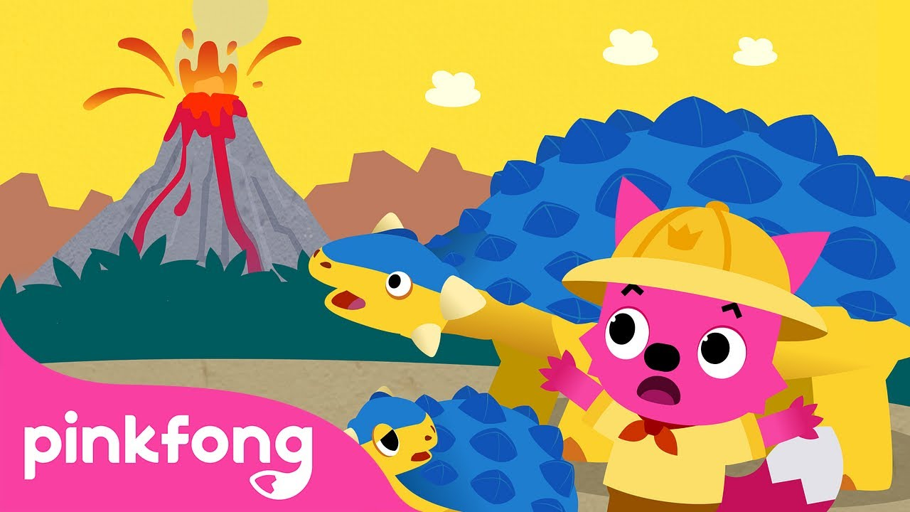 The Endangered Dinosaur Land   Dinosaur Story   Dinosaur Cartoon   Pinkfong Stories for Children