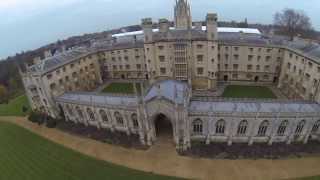 Cambridge aerial video down by the university