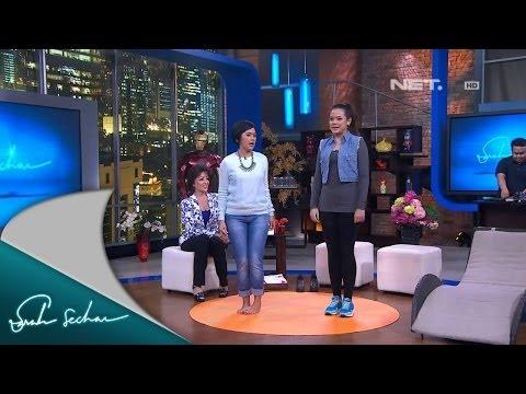 Sarah Sechan-Cantika dan Mama Minati Atmanegara Mengajak Senam