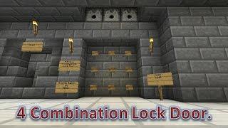Cara bikin kunci kombinasi anti Maling di Minecraft PE !!