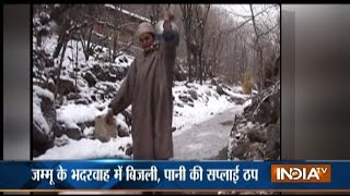 Heavy snowfall paralyses normal life in Kashmir, Transportation And Electricity Services Hit