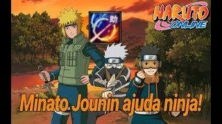 NARUTO ONLINE- Minato Jounin com ajuda ninja!!QUE DANO CARA!!
