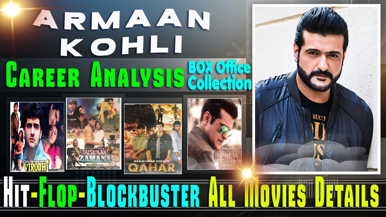 Download Armaan Kohli Box Office Collection Analysis Hit and Flop Blockbuster All Movies List.