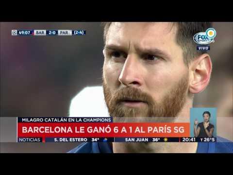 TV Pública Noticias - Barcelona le ganó 6 a 1 al PSG
