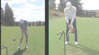 Check out this amazing golf swing transformation - Stop Casting!