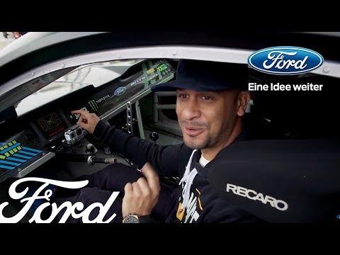 JP und sein Ford Mustang –mit Vaughn Gittin Jr. in Goodwood