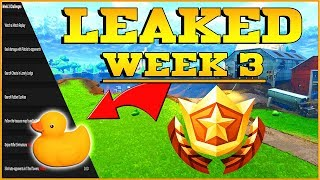 FORTNITE WEEK 3 CHALLENGES LEAKED! Treasure Map And Rubber Duckies - Fortnite Season 4 Leaks