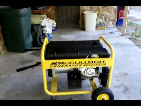 McCulloch Generator, Model # FG5700AK - YouTube