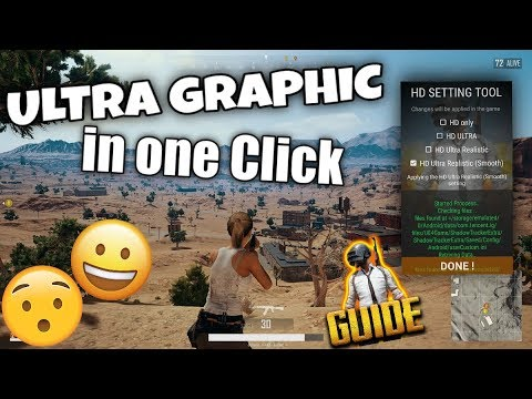 PUBG mobile HD graphics Easiest ( One Click !) Android IOS English Chinese