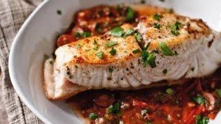 Рыба палтус по-царски.  Сковорода. Рецепт.