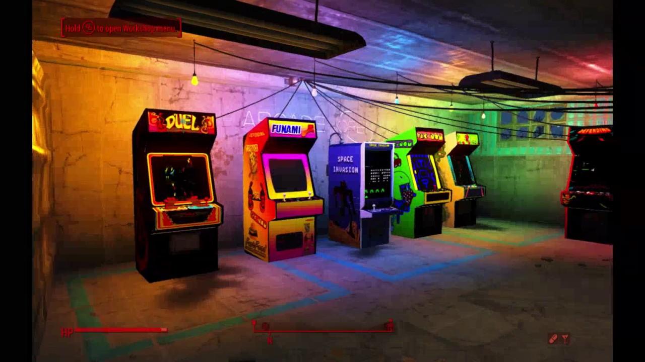 Fallout 4 80s Arcade Cabinets Mod