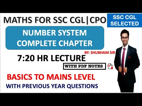 COMPLETE NUMBER SYSTEM FOR SSC CGL | CRACK SSC CGL IN FIRST ATTEMPT